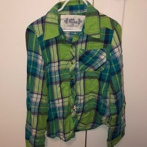 Girls button down flannel size 7/8 from Mudd